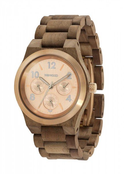 WEWOOD-KYRA-MB-NUT-ROUGH-ROSE-Armbanduhr-aus-Holz